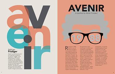 Adrian Frutiger Magazine Spread