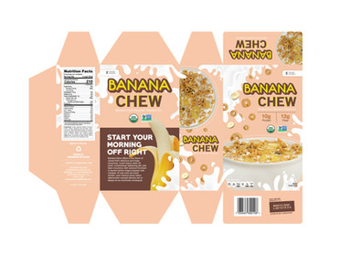 Banana Chew Cereal Packaging