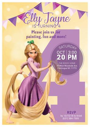 Tangled Themed Birthday Invitation