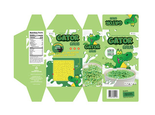 Gator Grub Cereal Packaging