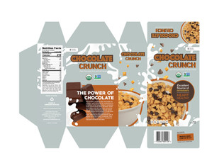 Chocolate Crunch Cereal Packaging