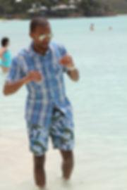 Julz west antigua beach