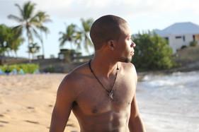 Julz on beach