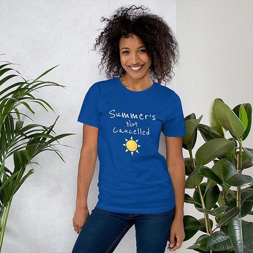 Summer's Not Cancelled (white) - Short-Sleeve Unisex T-Shirt