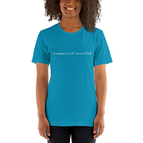 Summer's Not Cancelled (Simple white) - Short-Sleeve Unisex T-Shirt