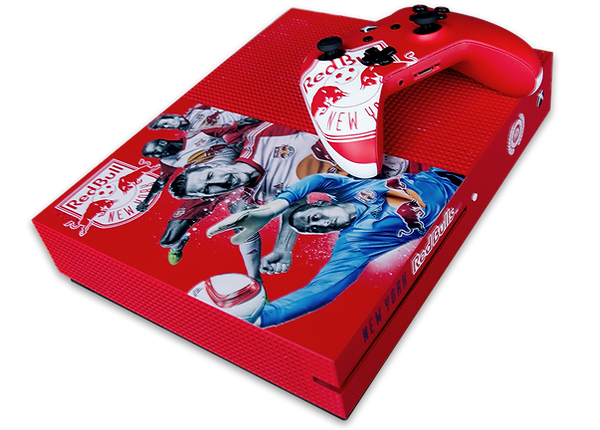 EA Sports and MLS NY Red Bulls custom branded Xbox One S