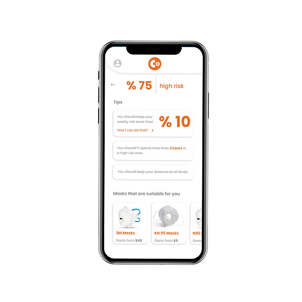 CoWear iPhone X mockup front risk result.png