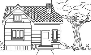 House coloring page PDF Link