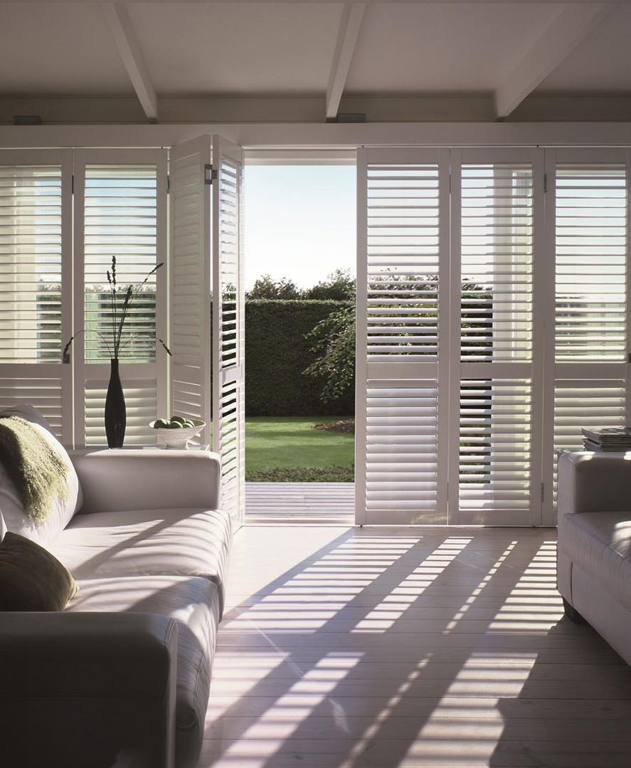 composite shutters living room