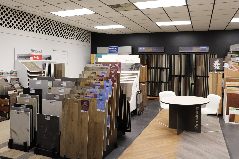 Flooring Selections in Showroom