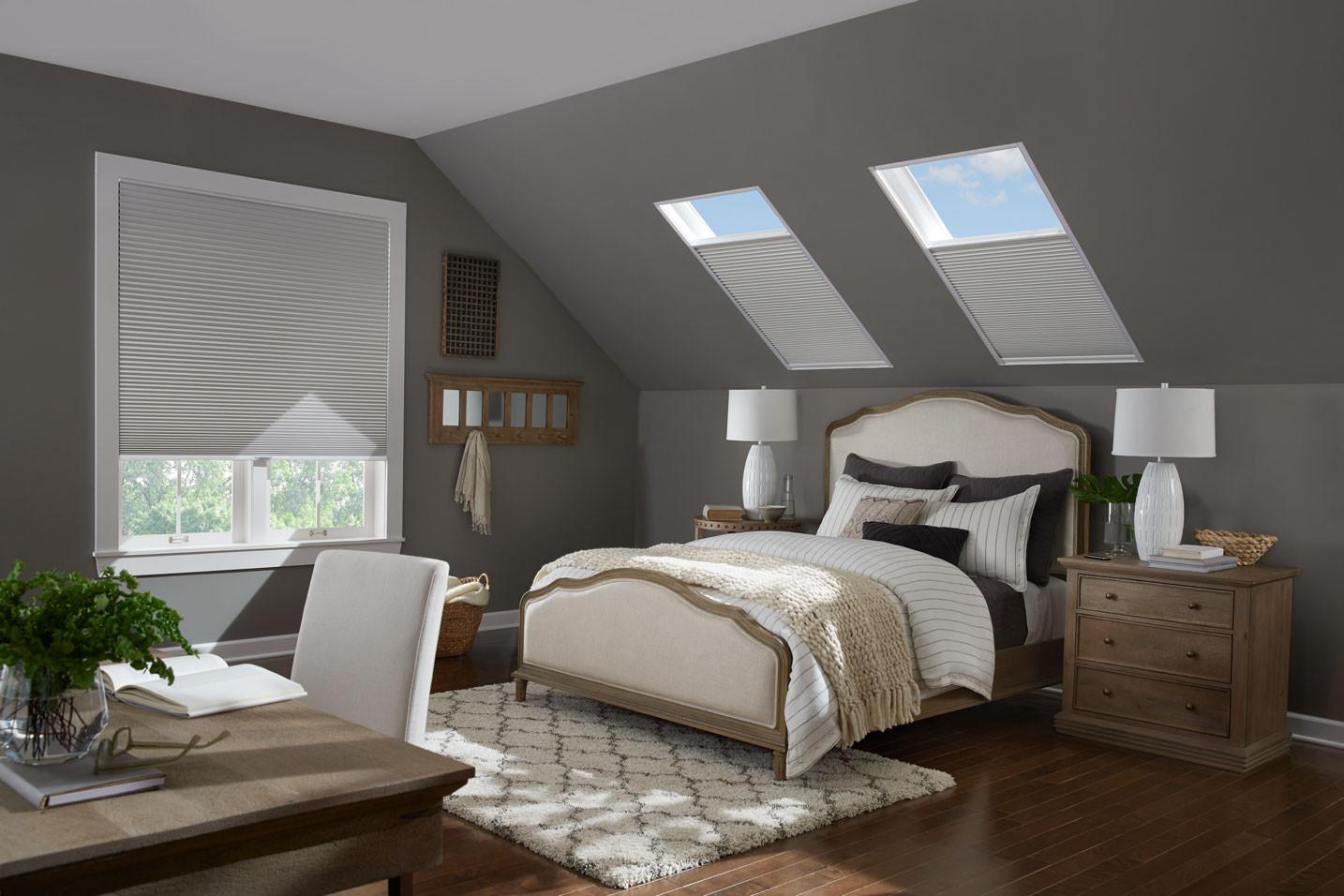honeycomb shades bedroom