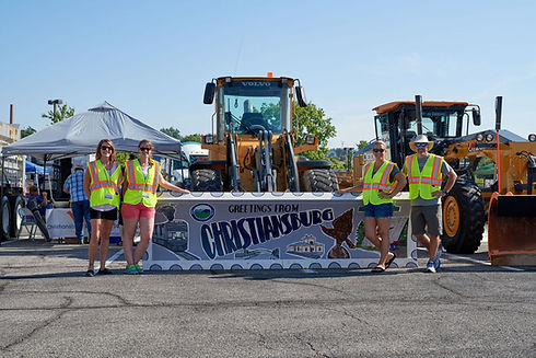 Group in front of Snowplow