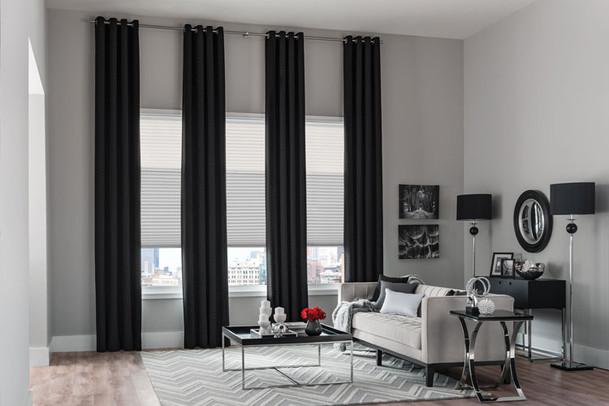 dramatic curtain shades