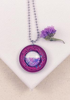 Upcycling Halskette Pink