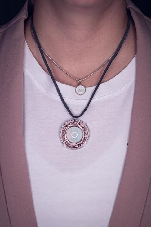 Upcycling Halskette mit Sterlingsilber Halskette