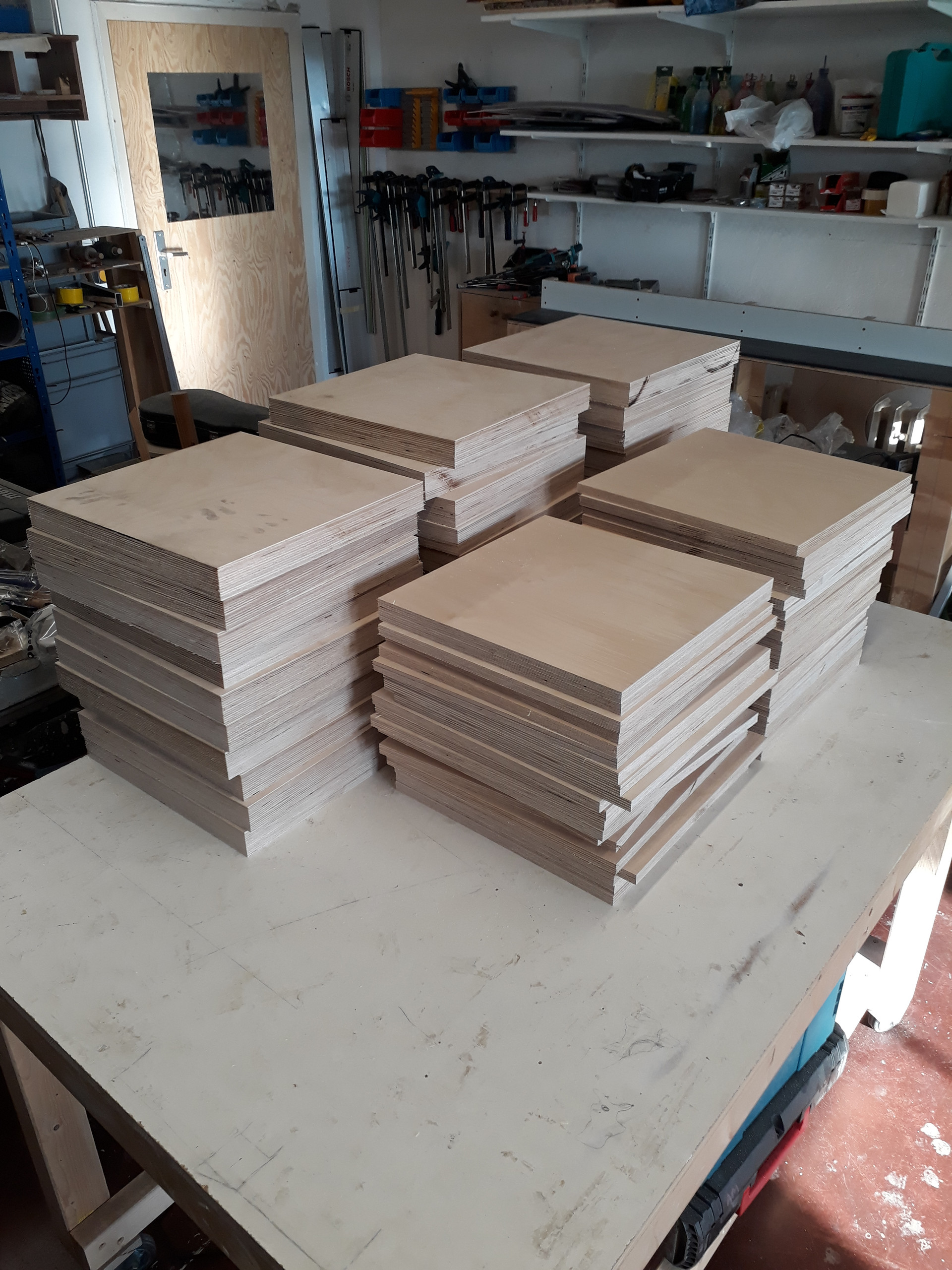 Boards ready for routing