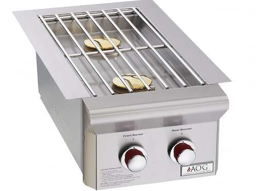 "BUILT-IN DOUBLE SIDE BURNER (""T"" SERIES) Item: AOG3282T"