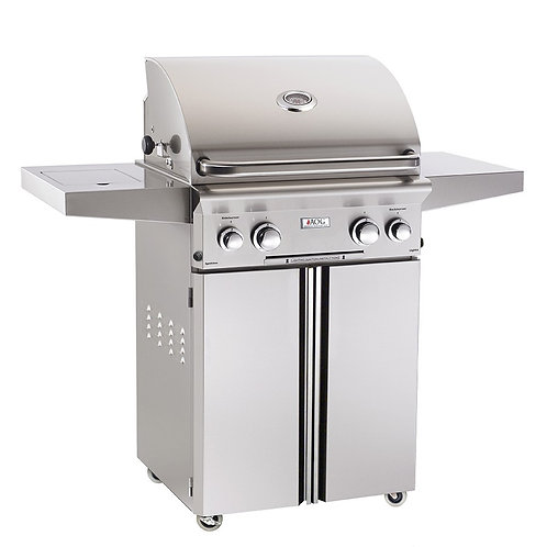 "AOG 24"" PORTABLE GRILL W/HALOGEN INTERIOR LIGHTS"