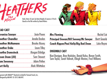 Cast of Heathers announced!