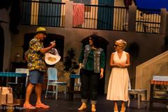 Steve Price as Porter, Sandra Neal as Rosie and Jodie Bell as Tanya