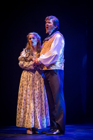 Sophie Ricca as Cosette and Alex Thomas