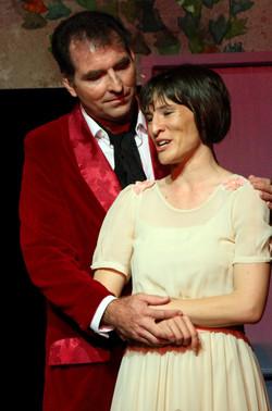 Leo Hogan and Claire Davies