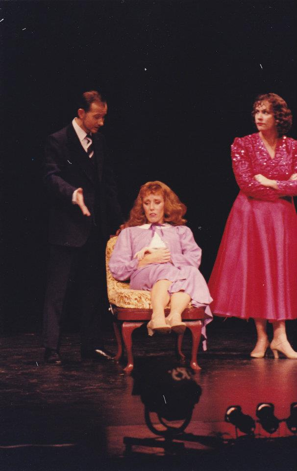Richard Price as Pat, Katrina Sayce as Peggy and Julie Adamson as Dorothy