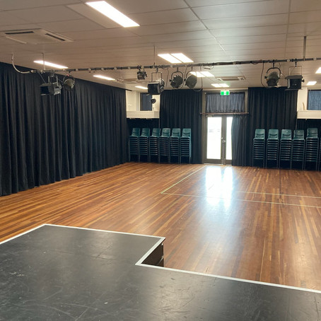 Sound attenuating curtains for our hall!