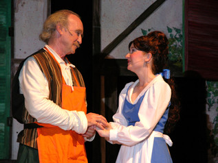 Tony McDermott as Maurice and Candice Nugent as Belle
