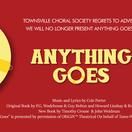 Anything Goes Cancelled