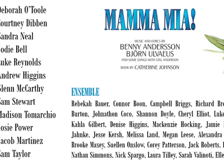 Our cast of Mamma Mia!