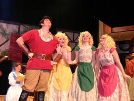 Brendan Kavanagh as Gaston and Harriet Dyer, Paula Hughes and Perrine Fleming