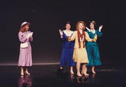 Katrina Sayce as Peggy, Denise McBride as Lorraine, Tiffany Hamilton as Phyllis and Fiona Hinds as G