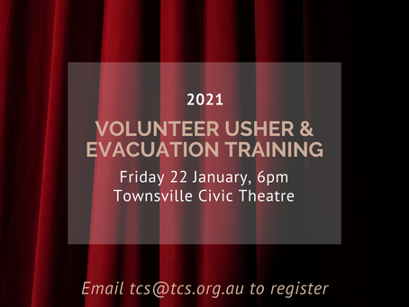 CANCELLED | 2021 Civic Theatre Volunteer Usher Training