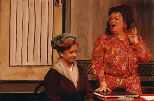 Rachel Cairns as Grace and Donna Ahlers as Miss Hannigan