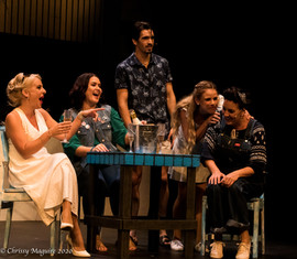 Jodie Bell as Tanya, Sandra Neal as Rosie, Sam Stewart as Skye, Courtney Dibben as Sophie and Deb O'Toole as Donna