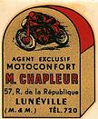 Luneville Decalque Moto