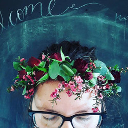 burgandy flower crown