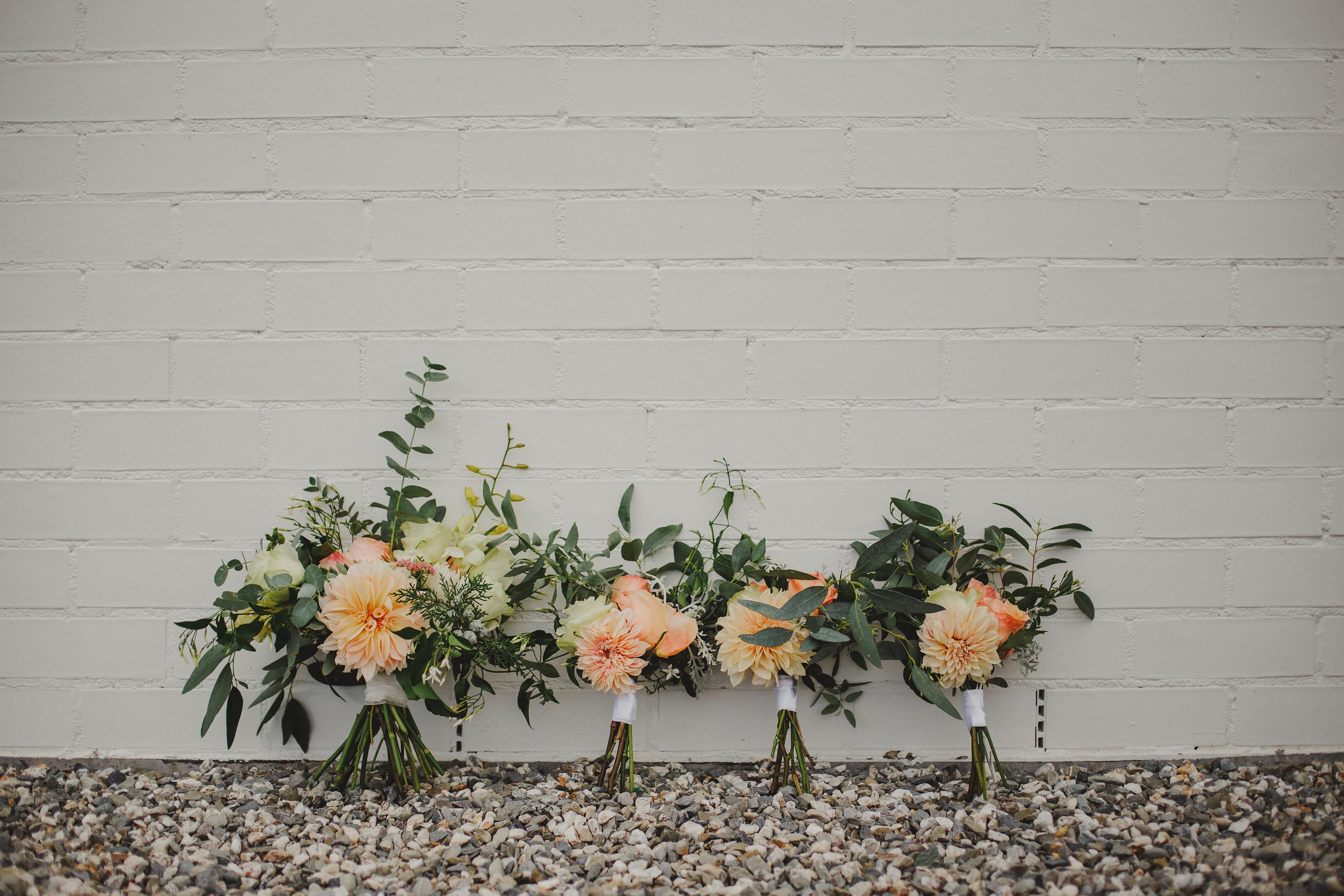 Dahlia Bridal and Bridesmaid Bouquet