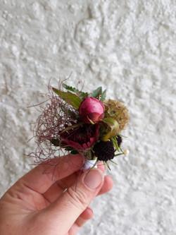 peony buttonhole
