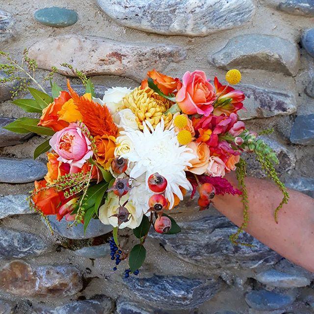 Bright and Bold Autumn BridesBouquet