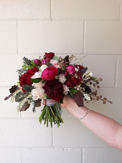 burgandy and blush bouquet