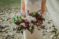 Berries and Creams Wedding Bouquet