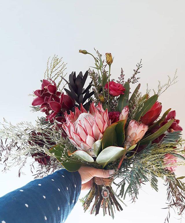 Berry toned Protea Bouquet