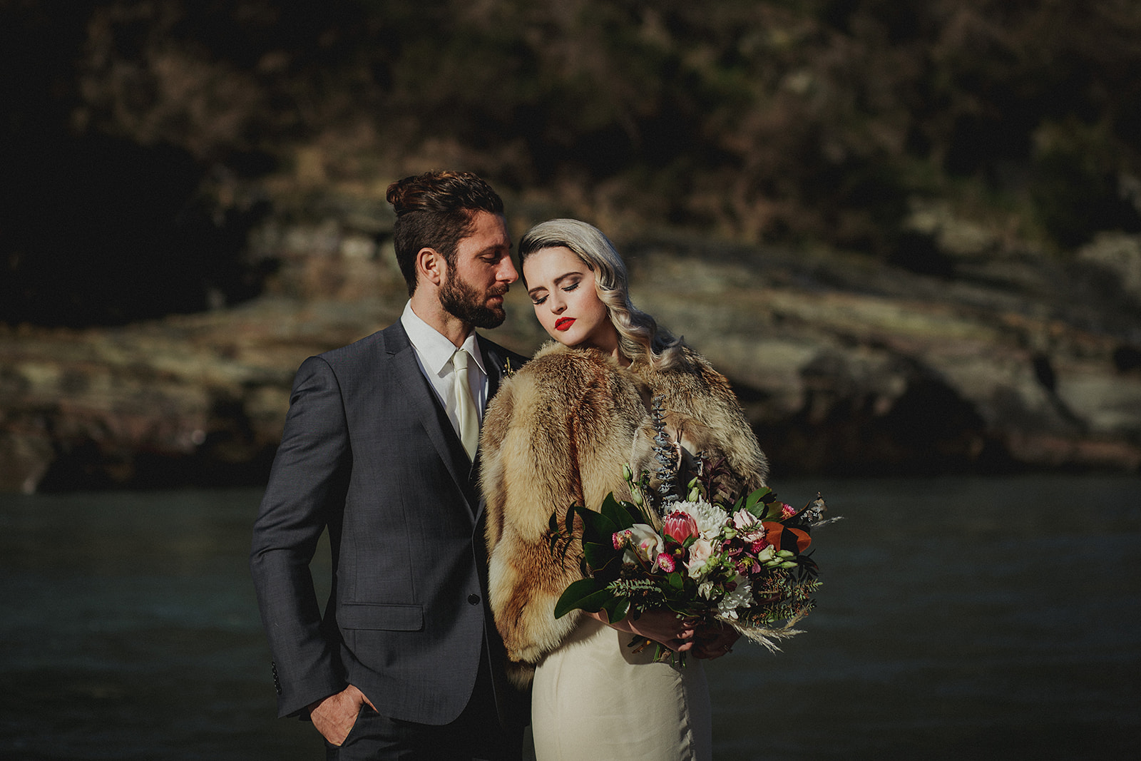 Berries and Cream Wedding Bouquet