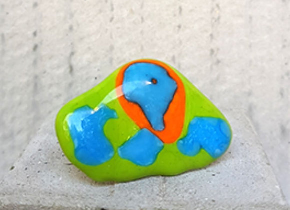 Anel em Vidros coloridos da Coleção Miró de Désirée Sessegolo