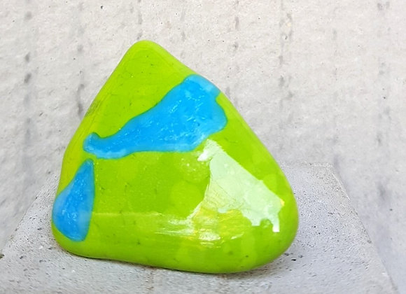 Anel Coleção Miró nas Cores Verde e Turquesa