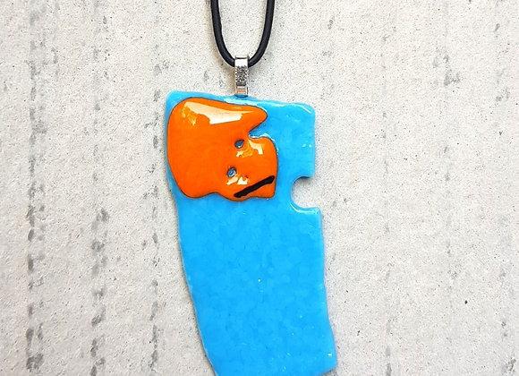Colar com Pingente Azul Turquesa da Coleção Miró