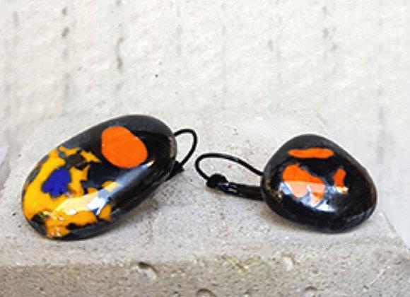 Brincos em Vidro Artesanal Coleção Miró