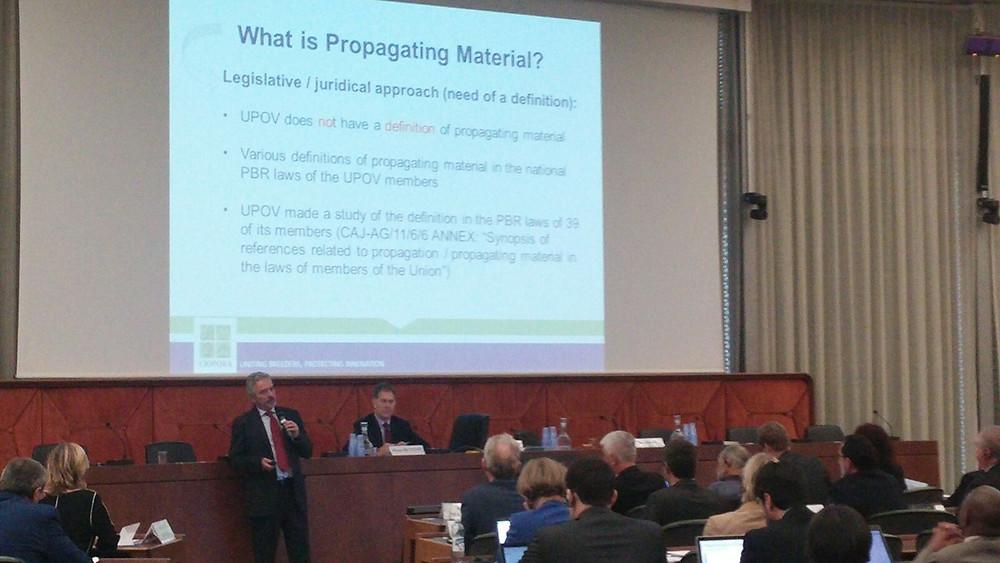 Andrea Mansuino speaks at UPOV